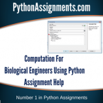 Computation For Biological Engineers  Using Python