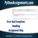 Error And Exceptions Handling
