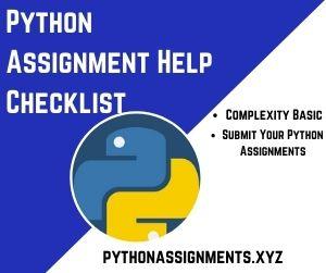 Python Assignment Help Checklist